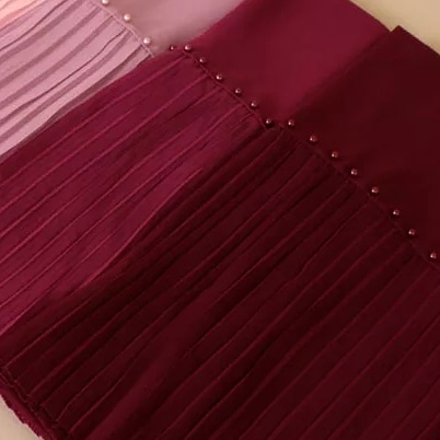 PEARL PLEATED CHIFFON